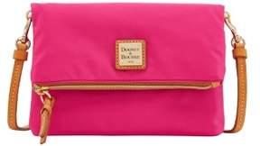 Dooney & Bourke Miramar Foldover Zip Crossbody Shoulder Bag - FUCHSIA - STYLE
