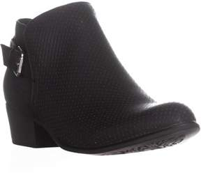 Esprit Talia Ankle Perforated Zip Up Boots, Black.