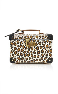 Charlotte Olympia Charlotte Olympia x Globe-Trotter Leopard-Print Leather Vanity Case