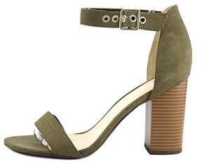 Bar III Womens Mikayla Open Toe Special Occasion Ankle Strap Sandals.