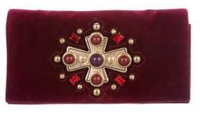 Saint Laurent Jeweled Sac Venise Clutch