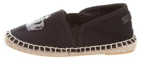 Dolce & Gabbana Girls' Embroidered Canvas Espadrilles