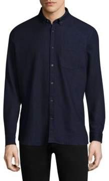 HUGO Emingway Denim Casual Button-Down Shirt
