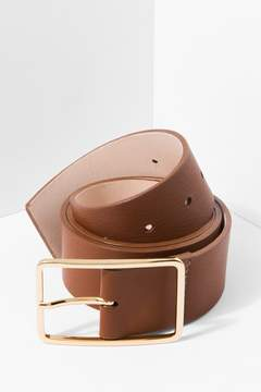 7 For All Mankind Milla Belt In Brandy And Gold