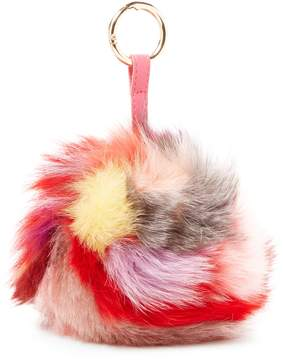 Jocelyn Women's Dyed Multi Fox Keychain