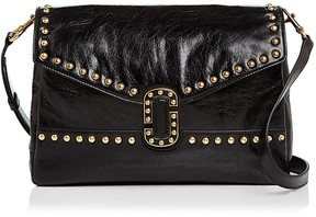Marc Jacobs Envelope Studded Leather Shoulder Bag - BLACK/GOLD - STYLE