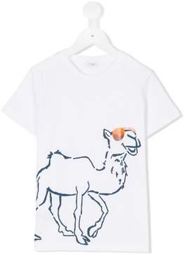 Il Gufo camel print T-shirt