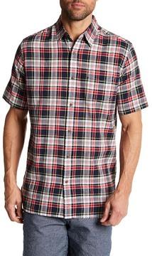 Joe Fresh Madras Plaid Short Sleeve Standard Fit Shirt