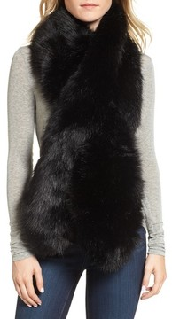 Sole Society Women's Oversize Faux Fur Wrap