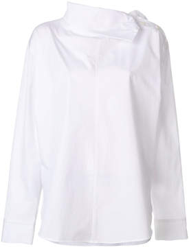 Y's side button collar shirt