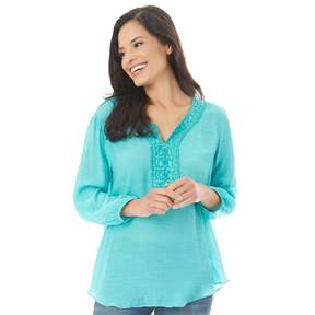 Apt. 9 Women's Embroidered Peasant Top