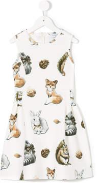 MonnaLisa cat print dress