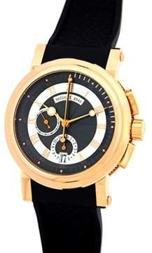 Breguet Marine Chronograph 18K Rose Gold Mens Strap Watch