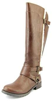 G by Guess Hollow Round Toe Synthetic Knee High Boot.