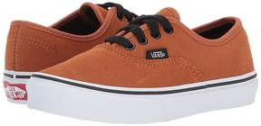 Vans Kids Authentic Glazed Ginger/Black) Boy's Shoes