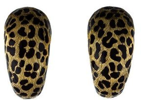 Christian Dior 18K Mitza Enamel Clip-On Earrings