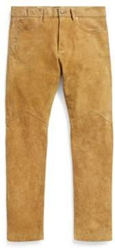 Ralph Lauren Slim Fit Roughout Suede Pant Light Brown 31