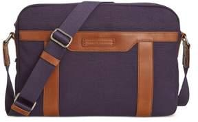 Tommy Hilfiger Mens Canvas Contrast Trim Messenger Bag