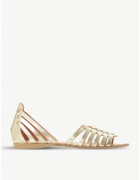 Dune Gili metallic-leather gladiator sandals