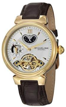 Stuhrling Original Magister 128.333K2 Stainless Steel & Leather 41mm Watch
