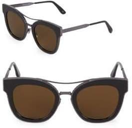 Bottega Veneta 50MM Etched Square Sunglasses