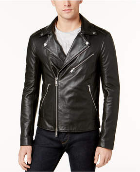 Armani Exchange Men's Leather Moto Jacket