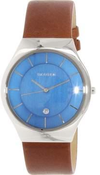 Skagen Men's Grenen SKW6160 Brown Leather Quartz Dress Watch