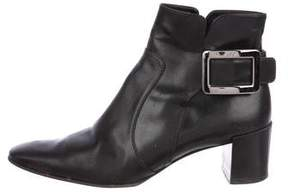 Roger Vivier Leather Ankle Boots