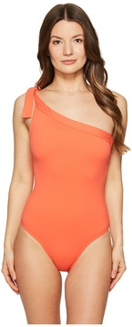 Letarte One Shoulder One-Piece Women's Swimsuits One Piece