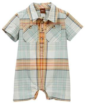 Tea Collection Anzac Buttoned Romper (Baby Boys)