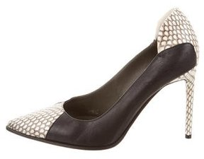 Reed Krakoff Leather Snakeskin-Accented Pumps