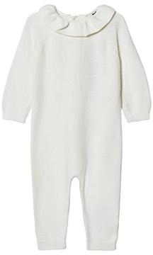 Cyrillus White Organic Footless Babygrow