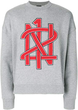 No.21 slogan front sweatshirt