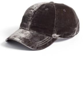 Madewell Women's Velvet Baseball Cap - Grey