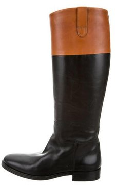 Ralph Lauren Two-Tone Leather Boots