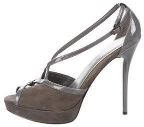 Calvin Klein Collection Peep-Toe Platform Pumps