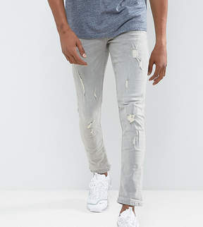 Blend of America Cirrus Skinny Fit Jean Ripped Light Gray Wash