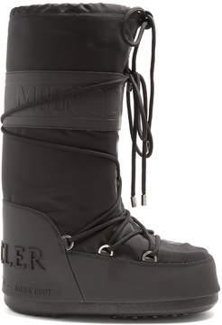 Moncler X Moon Boot® leather-trimmed aprés-ski boots