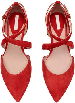 H&M Suede Flats - Red