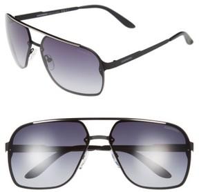 Carrera Men's Eyewear 64Mm Navigator Sunglasses - Matte Black/ Grey Gradient
