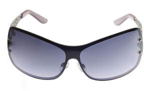 Nicole Miller Nicole By Rimless Shield Sunglasses-Womens