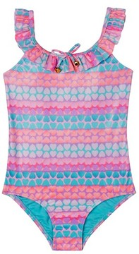 Hula Star Toddler Girl's Hearts Galore One-Piece Swimsuit