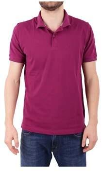 Sun 68 Men's Purple Cotton Polo Shirt.