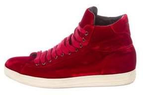 Tom Ford Russel Velvet Sneakers