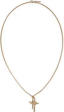 Emanuele Bicocchi SSENSE Exclusive Gold Double Cross Necklace