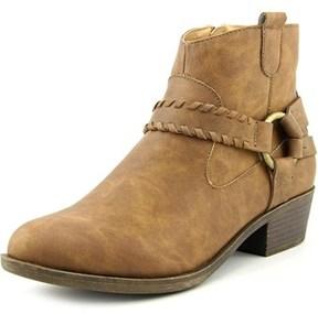 XOXO Gillian Women Round Toe Synthetic Tan Ankle Boot.