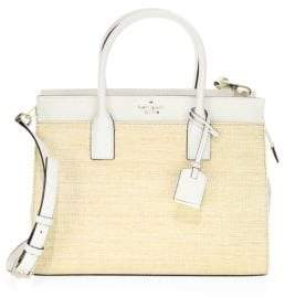 Kate Spade Cameron Street Straw Candace Satchel - NATURAL CEMENT - STYLE
