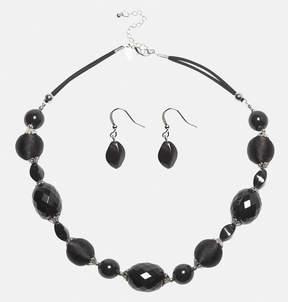Avenue Large Jet Necklace Earring Set
