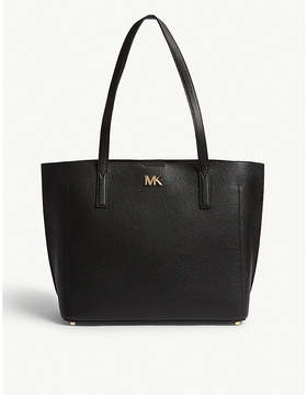 MICHAEL Michael Kors Michael Kors Brown Ana Bonded Grained Leather Tote Bag