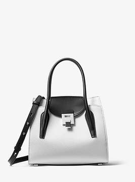 Michael Kors Bancroft Medium Calf Leather Satchel - WHITE - STYLE